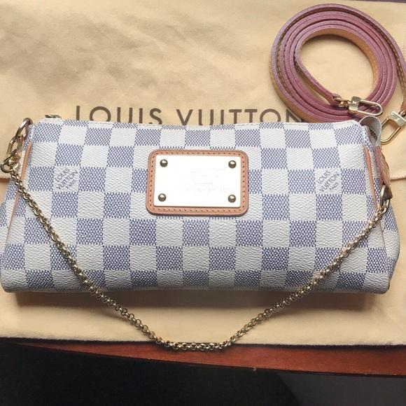 Louis Vuitton Bags Firm Price Damier Azur Eva Clutch Poshmark